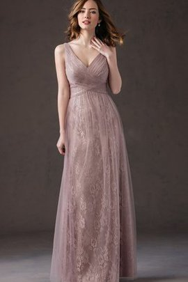 Pleated Ruffles Tulle Floor Length Ruched Bridesmaid Dress