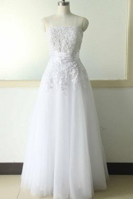 A-Line Beach Lace Zipper Up Sequined Wedding Dress