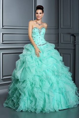 Lace-up Sweetheart Empire Waist Ball Gown Beading Quinceanera Dress