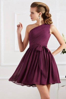 Natural Waist A-Line Chiffon Sleeveless Bridesmaid Dress