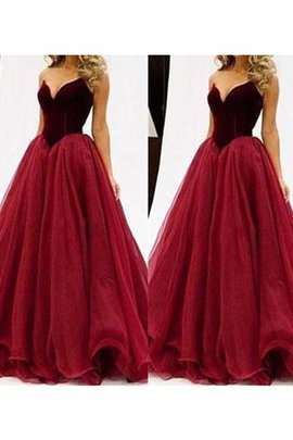 Ball Gown Sleeveless Sweetheart Floor Length Tulle Prom Dress