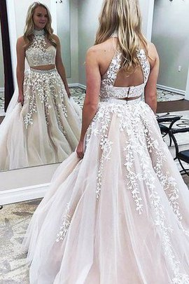 Elegant & Luxurious Beading Sleeveless Romantic Appliques Prom Dress