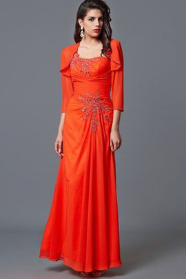 Beading Lace Formal Natural Waist 3/4 Length Sleeves Evening Dress