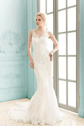 Floor Length Simple Sleeveless Sheath Lace Fabric Wedding Dress