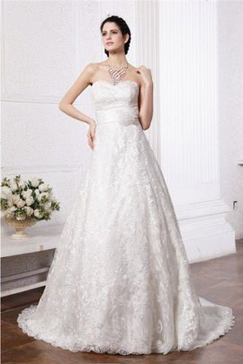 Sweetheart Sleeveless Sashes Long Empire Waist Wedding Dress