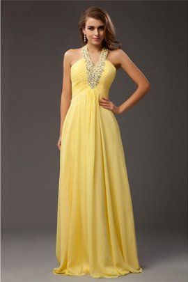 Floor Length Halter Sleeveless Zipper Up Long Prom Dress