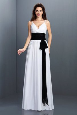 Princess Zipper Up Sashes Long Floor Length Bridesmaid Dress