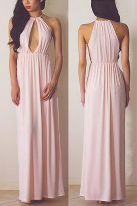 Floor Length A-Line Sleeveless Halter Prom Dress
