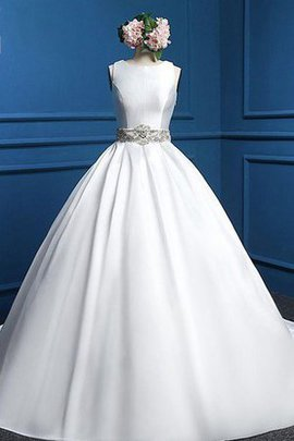 Tea Length Ball Gown Sleeveless Sashes Wedding Dress