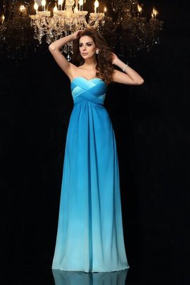 Empire Waist Sweetheart A-Line Ruched Sleeveless Prom Dress