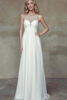 Floor Length Scoop Empire Waist Simple Chiffon Wedding Dress