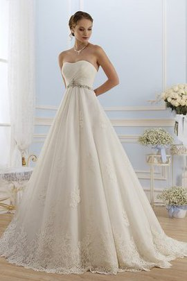 A-Line Elegant & Luxurious Beading Simple Wedding Dress