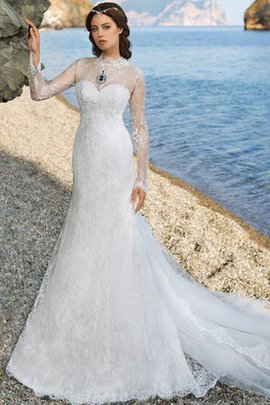 Vintage Sheath Floor Length Elegant & Luxurious Appliques Wedding Dress