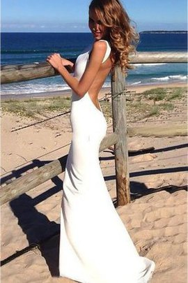 Mermaid Informal & Casual Elegant & Luxurious Sleeveless Sweep Train Wedding Dress