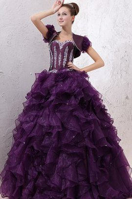 Beading Organza Ruffles Sweetheart Dressed In 16 Years