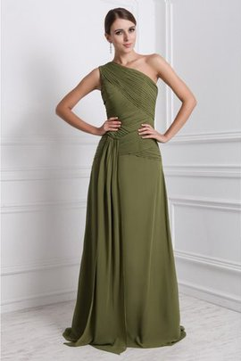 Sleeveless Chiffon Long Natural Waist Floor Length Prom Dress
