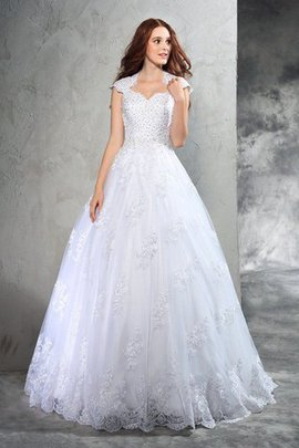 Court Train Ball Gown Zipper Up Natural Waist Sweetheart Wedding Dress