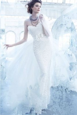 Backless Ball Gown Tulle Sweep Train Natural Waist Wedding Dress