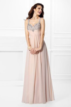 Floor Length Princess Beading Spaghetti Straps Sleeveless Prom Dress