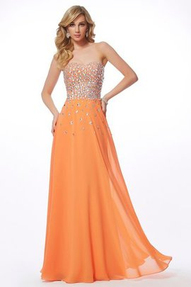 Sleeveless Natural Waist Zipper Up Princess Sweetheart Evening Dress