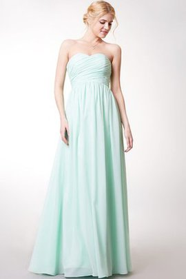 Chiffon Floor Length Zipper Up Long Sashes Bridesmaid Dress