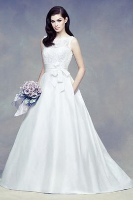 Rectangle Court Train Romantic Church Wedding Dress