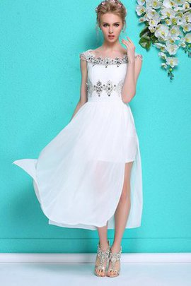 Beading Sequined Short Sleeves Zipper Up Elegant & Luxurious Evening Dress