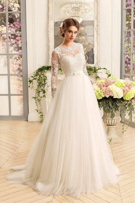 A-Line Chic & Modern Lace-up Simple Floor Length Wedding Dress