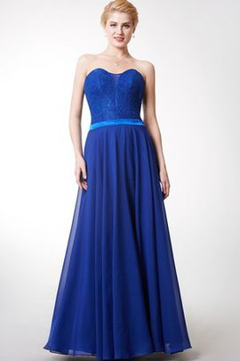 Lace Backless A-Line Floor Length Natural Waist Bridesmaid Dress