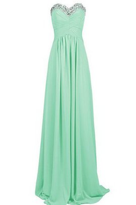A-Line Sequined Pleated Lace-up Floor Length Bridesmaid Dress
