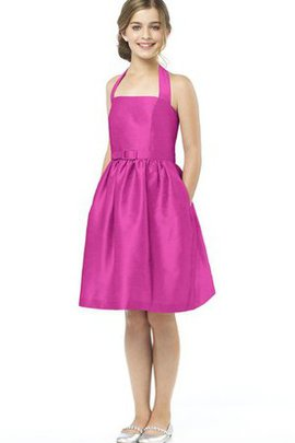 Halter Short A-Line Sleeveless Bridesmaid Dress