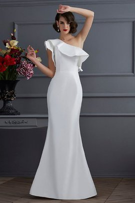 Natural Waist Taffeta One Shoulder Floor Length Long Evening Dress