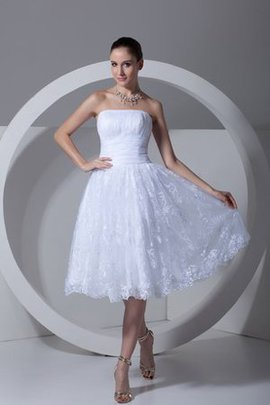 Sleeveless A-Line Appliques Strapless Romantic Party Dress