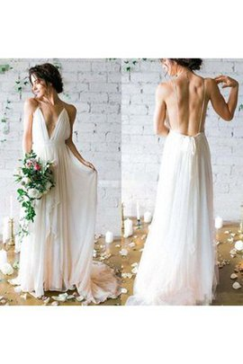 Sheath Pleated Sleeveless Tiered Chiffon Wedding Dress