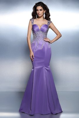 Mermaid Sweetheart Beading Sleeveless Natural Waist Prom Dress