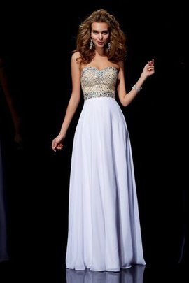 Sweetheart Empire Waist Chiffon Princess Long Evening Dress