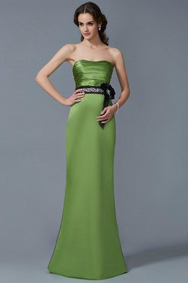 Long Strapless Sleeveless Sashes Bridesmaid Dress