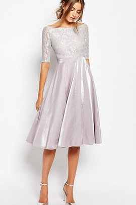 Bateau Lace Pleated Chic & Modern Bridesmaid Dress