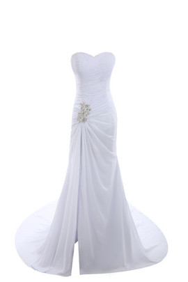 Mid Back Tea Length Hall Elegant & Luxurious Demure Wedding Dress