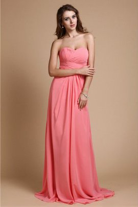 A-Line Ruffles Chiffon Sweetheart Sleeveless Bridesmaid Dress