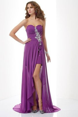 Beading Natural Waist Zipper Up A-Line Long Evening Dress