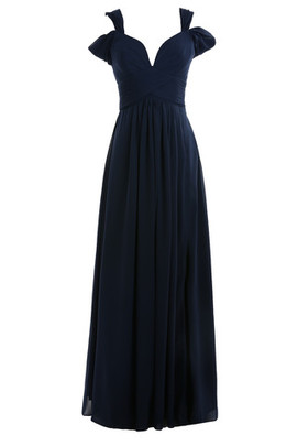 Fancy Strapless Romantic Short Sleeves Swing Evening Dress
