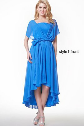 Simple Ruffles A-Line Strapless High Low Bridesmaid Dress