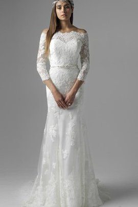 Thin Sweep Train Off The Shoulder Long Wedding Dress