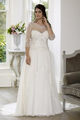 Lace-up Lace Romantic Beading Court Train Wedding Dress