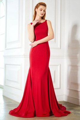 Ruffles Wide Straps Sweep Train Natural Waist Mermaid Evening Dress