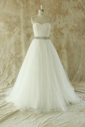 Sleeveless Floor Length Natural Waist Strapless Backless Wedding Dress