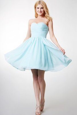Simple Zipper Up A-Line Pleated Sweetheart Bridesmaid Dress