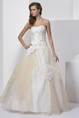 Empire Waist Long Lace-up Sleeveless Ball Gown Quinceanera Dress