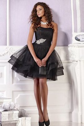 Sleeveless Beading Pleated Ruched Zipper Up Homecoming Dress